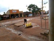 Kampala voorsteden royalty-vrije stock afbeelding