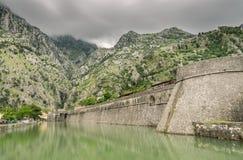 Kampana torn och citadell i Kotor, Montenegro Fotografering för Bildbyråer