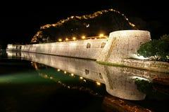 Kampana Tower, Kotor. Kampana Tower in the night, North Gate, Kotor fortress, Montenegro Stock Photo