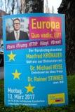 Kampania plakat dla niemieckiej partii liberalnej Obraz Royalty Free