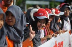 Kampania 'poświęcać' naprzeciw Eid al-Adha świętowania w Indonezja Obrazy Royalty Free