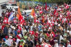 Kampania polityczna wiec opozycja w Nikaragua Obraz Stock