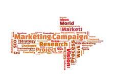 Kampanii marketingowej słowa chmura Zdjęcia Stock