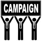 kampanii mienia mężczyzna znak Fotografia Royalty Free