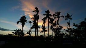Kampar西湖庭院剪影 免版税图库摄影