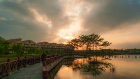 Kampar västra sjöträdgård royaltyfria foton
