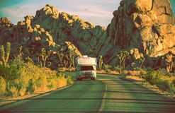Kampeerauto in Californië Royalty-vrije Stock Afbeelding