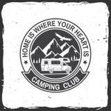 Kampeerauto en caravaning club Vector illustratie royalty-vrije illustratie