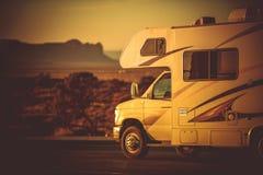 Kampeerauto Van Camping stock foto's