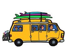 Kampeerauto Van Road Trip vector illustratie