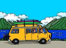 Kampeerauto Van Road Trip stock illustratie