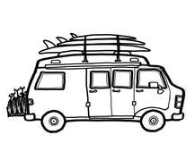 Kampeerauto Van Road Trip royalty-vrije illustratie