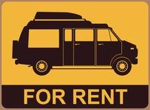 Kampeerauto voor huur vector illustratie