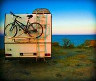Kampeerautosta-caravan Stock Foto's