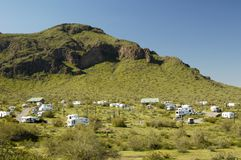 Kampeerterrein 1 van de woestijn stock fotografie