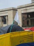 Kampeerterrein voor de Vrede, in Bogota, Colombia Stock Afbeelding