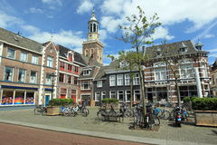 Kampen. Botermarkt in Kampen in the New tower in the background, Netherlands Royalty Free Stock Images