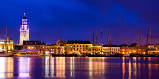 Kampen Harbor Blue Hour Royalty Free Stock Images