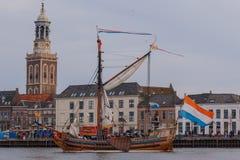 Kampen, Nederland - 30 Maart, 2018: Het Jacht van de staat Royalty-vrije Stock Afbeelding