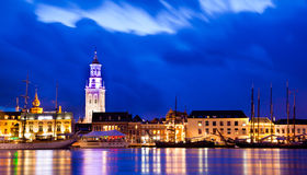 Kampen by Night Royalty Free Stock Image