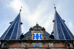 Kampen, Overijssel, Netherlands. The towers of the city gate of Kampen Stock Photos