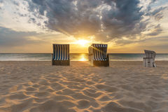 Kampen, Sylt. Sunset at Kampen beach- Sylt, Germany Royalty Free Stock Photos