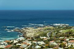 Kampenbaai, de Atlantische Oceaan, Kaapstad Royalty-vrije Stock Afbeelding