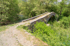 Kamper Aga stone bridge, Epirus, Greece Royalty Free Stock Photo