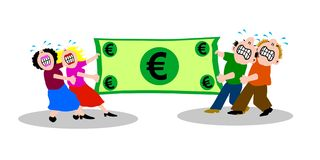 Kampf über Geld Lizenzfreie Stockbilder