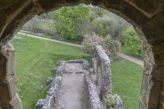 Kampf Abbey Remains, Sussex, Großbritannien Lizenzfreie Stockbilder