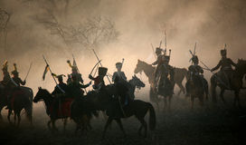 Kampf bei Austerlitz 2009 Stockfotografie