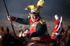 Kampf bei Austerlitz 2009 Stockbild