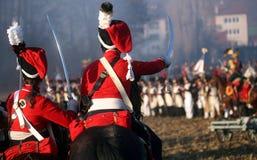 Kampf bei Austerlitz 2009 Lizenzfreies Stockfoto