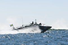 Kampf-Boot 90 an der hohen Geschwindigkeit Stockfoto