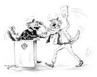 Kampf der Katzen Lizenzfreies Stockbild