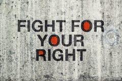 Kampf für Ihre rechten Graffiti Lizenzfreies Stockbild