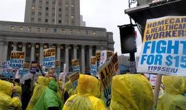 Kampf für Nationaltag $15 Aktion-neuer York-Stadt Stockfoto