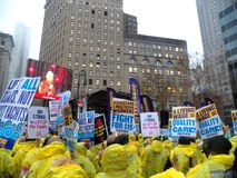 Kampf für Nationaltag $15 Aktion-neuer York-Stadt Stockbilder