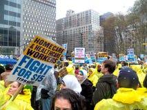 Kampf für Nationaltag $15 Aktion-neuer York-Stadt Lizenzfreie Stockfotografie