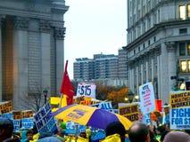 Kampf für Nationaltag $15 Aktion-neuer York-Stadt Stockfotos