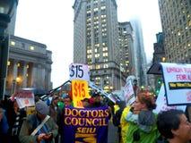 Kampf für Nationaltag $15 Aktion-neuer York-Stadt Lizenzfreies Stockfoto