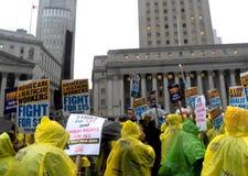 Kampf für Nationaltag $15 Aktion-neuer York-Stadt Lizenzfreie Stockfotos