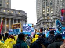 Kampf für Nationaltag $15 Aktion-neuer York-Stadt Lizenzfreie Stockbilder