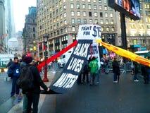 Kampf für Nationaltag $15 Aktion-neuer York-Stadt Stockfotografie