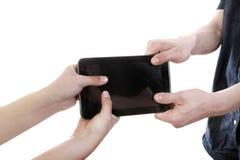 Kampf für Tablet-Computer Stockfotografie