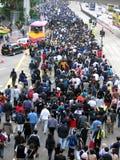 Kampf für Freiheit - eine Demonstration Lizenzfreies Stockbild
