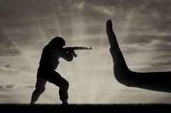 Kampf gegen Terrorismuskonzept lizenzfreie stockfotos