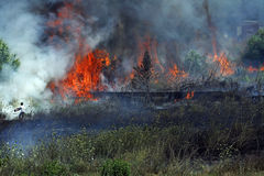 Kampf mit Feuer Lizenzfreies Stockfoto