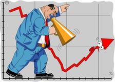 Kampf mit Krise Stockfoto