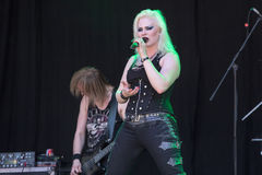 Kampf-Tier bei Metalfest 2015 Lizenzfreies Stockbild